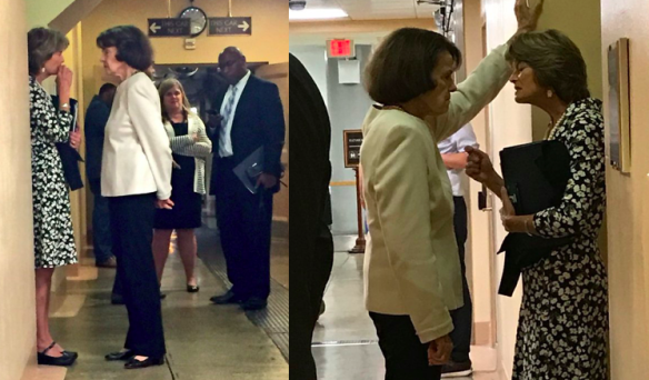 Dianne Feinstein apparently bullying Lisa Murkowski
