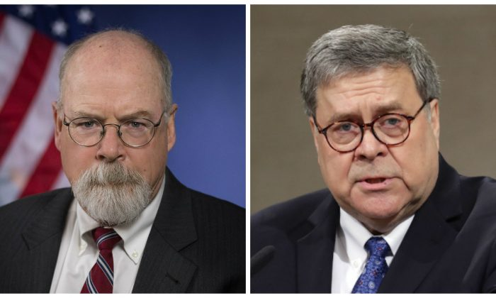 Attorney John Durham and Attorney General William Barr
