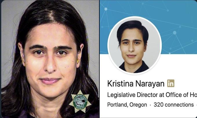 Kristina Narayan Democrat staffer arrested