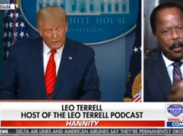 Leo Terrell making his announcement on Fox News