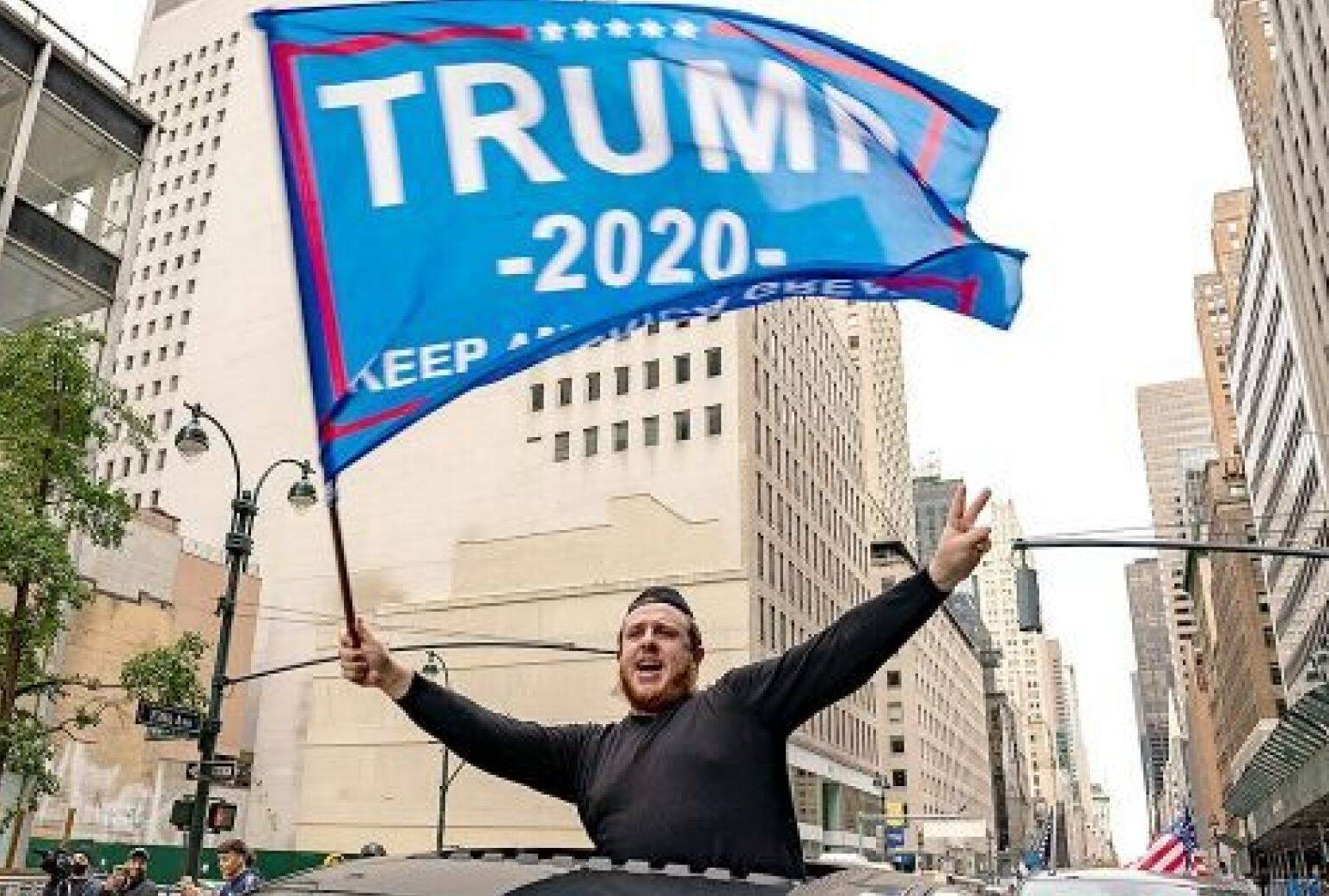 Jews for Trump rally attacked
