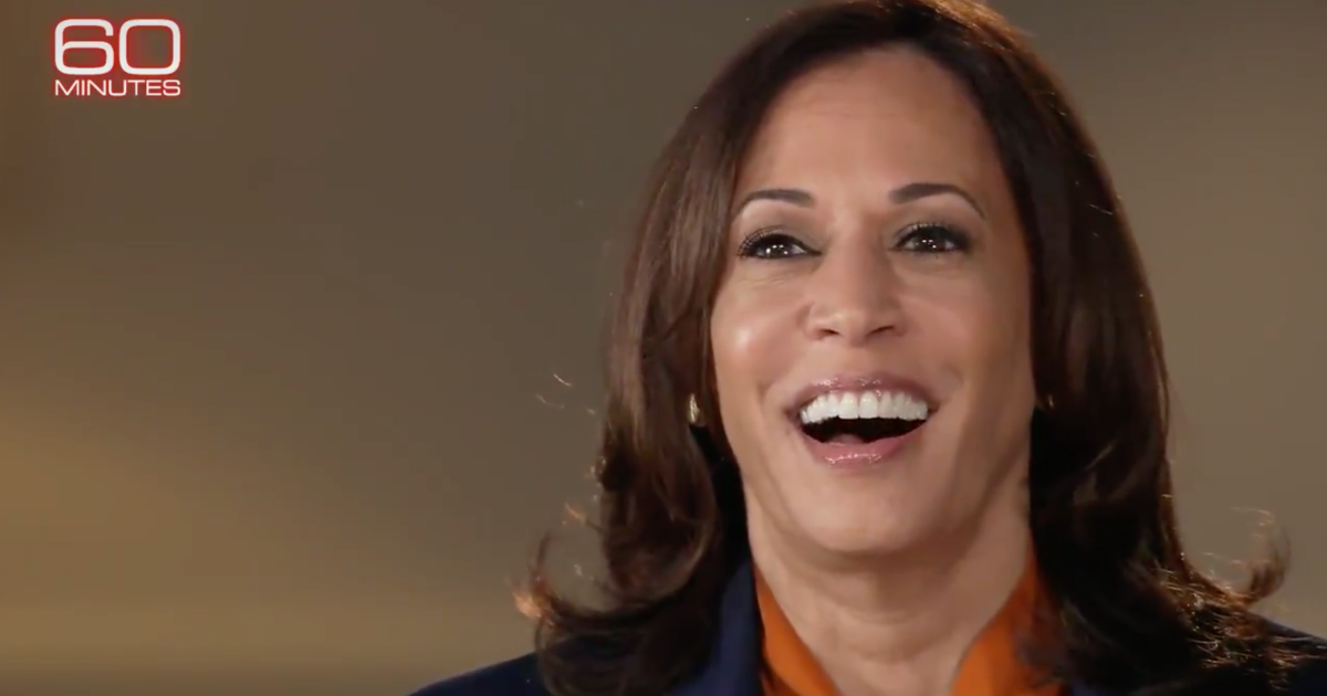 Video Kamala Harris Bursts Out into Awkward Nervous Laughter When Confronted About Her Socialist Agenda