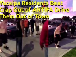 Yucaipa California residents beat ANTIFA, ran them out of town