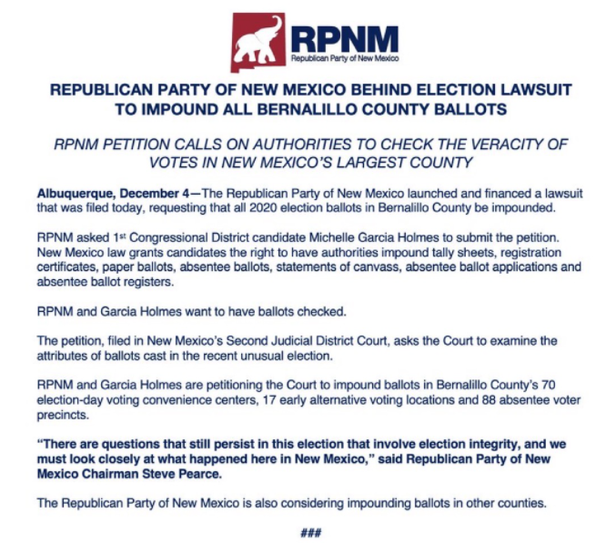 GOP Files Lawsuit, ALL Ballots to Be IMPOUNDED