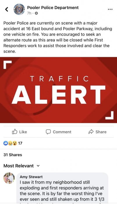 police post about accident killing campaign aide