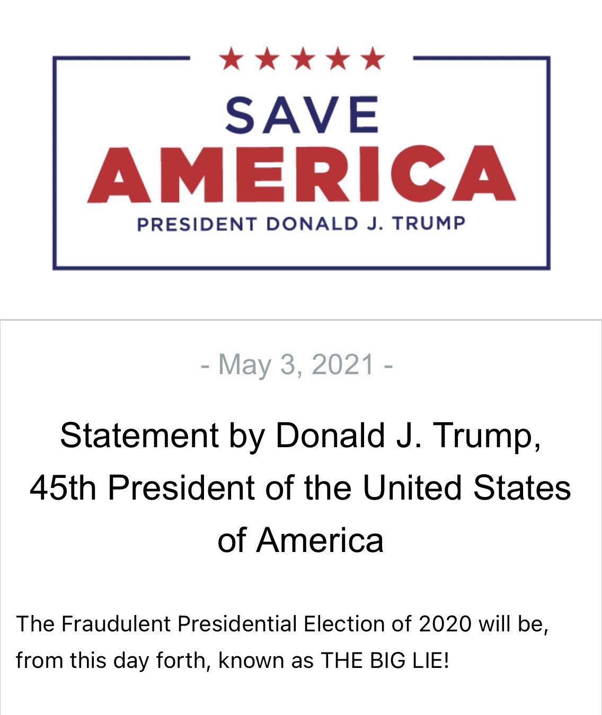 Trump Releases Official Written Statement