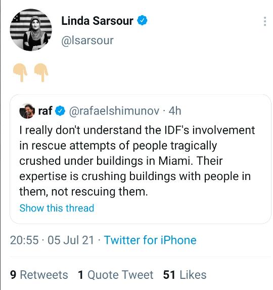 Linda Sarsour deleted tweet